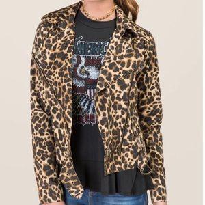 🆕 Leopard Print Francesca's Miami Cropped Jacket
